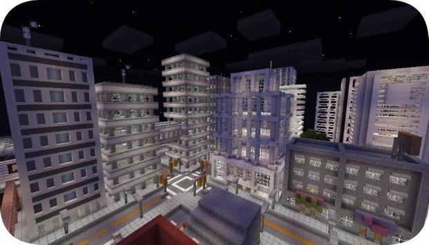 Block Angeles map for mcpe poster