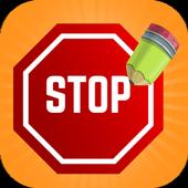 Dame la letra - Stop icon