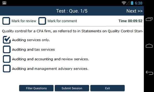CPA Audit Exam Online Free screenshot 2
