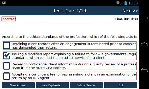 CPA Audit Exam Online Free screenshot 3