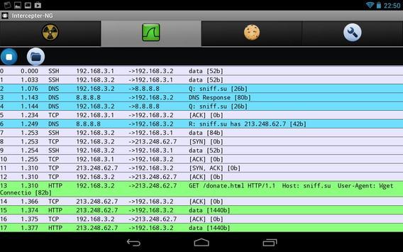 Intercepter-NG (ROOT) apk screenshot