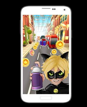 Subway Cat Noir poster