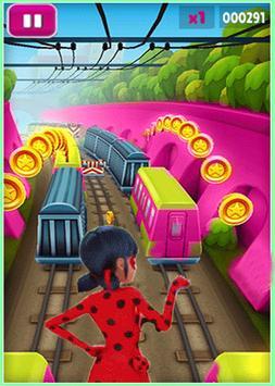 Subway Ladybug Clash run poster