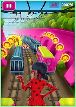 Subway Ladybug Clash run apk screenshot
