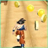 Subway Goku jungle super saiyan run icon