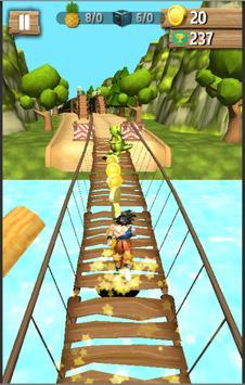 Subway Goku jungle super saiyan run screenshot 2