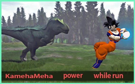 Subway Hero Goku Jungle Survivor rush screenshot 1