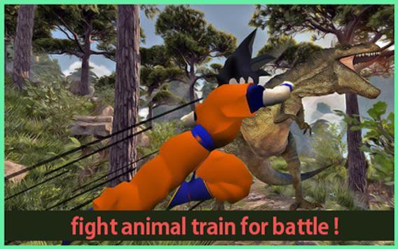 Subway Hero Goku Jungle Survivor rush screenshot 2