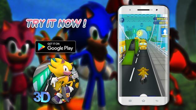 Super Sonic subway dash fever epic adventure 2018 poster