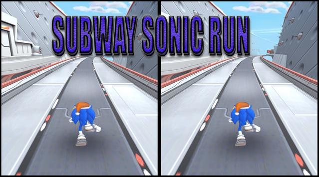 Subway Sonic Jump Run Game screenshot 1