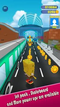 Super spongebob bikini squarepants rush subway 3D screenshot 2