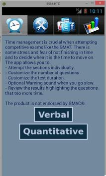 The EXAM Timer (GMAT/GRE/CAT) poster