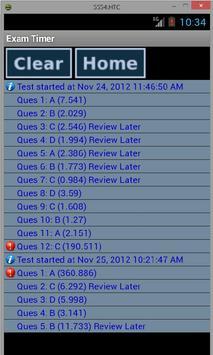 The EXAM Timer (GMAT/GRE/CAT) apk screenshot