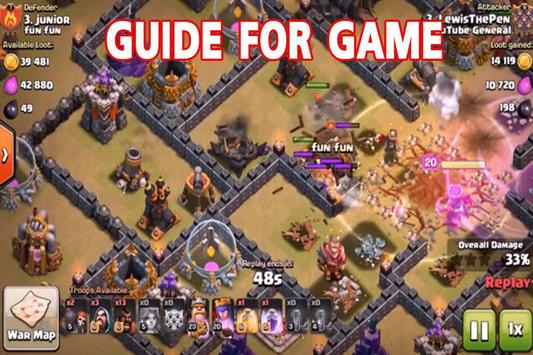 Guide The Clash Of Clans Game CoC poster
