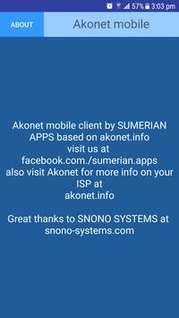 Akonet mobile screenshot 2