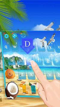 Summer Beach Keyboard Theme apk screenshot