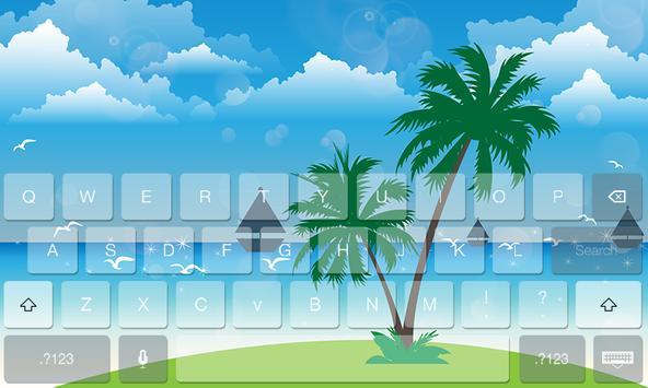 Summer Fresh Theme Keyboard poster