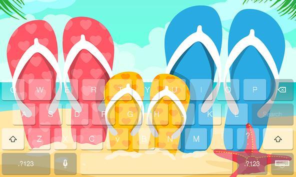 Summer Fresh Theme Keyboard screenshot 1