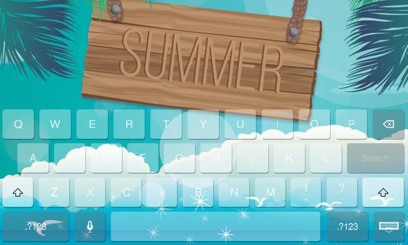 Summer Fresh Theme Keyboard screenshot 3