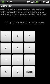 Maths Test apk screenshot