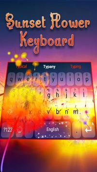 Typany Sunset Flower Keyboard poster