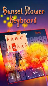 Typany Sunset Flower Keyboard screenshot 1