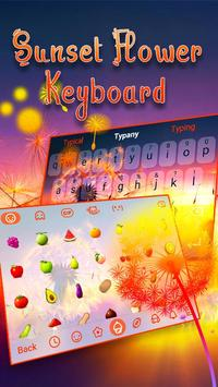 Typany Sunset Flower Keyboard screenshot 2