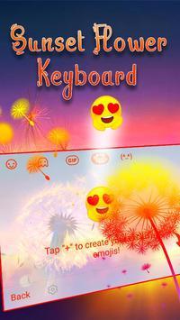 Typany Sunset Flower Keyboard screenshot 3