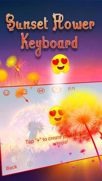 Typany Sunset Flower Keyboard screenshot 3