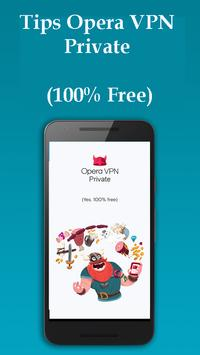 Tips Opera VPN Private poster