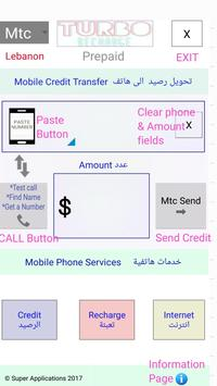 Turbo Telecom📡for Lebanon Prepaid Mobile Phones poster