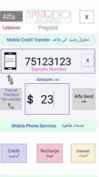 Turbo Telecom📡for Lebanon Prepaid Mobile Phones screenshot 1