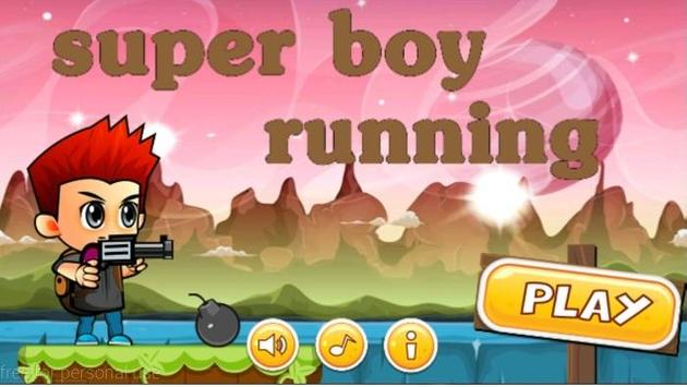 super boy running poster