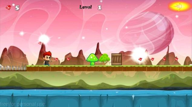 super boy running apk screenshot