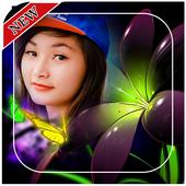Neon Flower Photo Frames icon