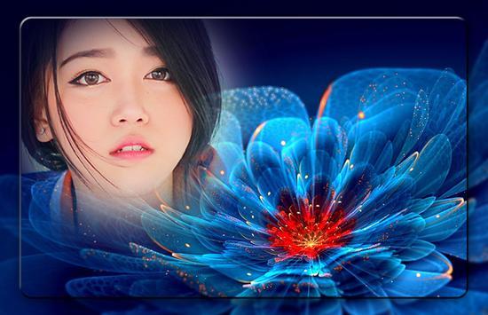 Neon Flower Photo Frames screenshot 2
