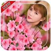 Pink Flowers Photo Frames icon