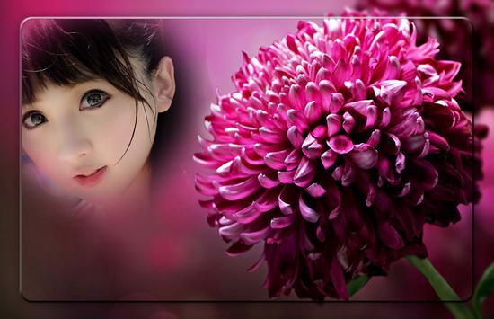 Pink Flowers Photo Frames apk screenshot