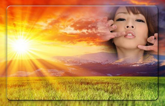Sun Sky Photo Frames poster
