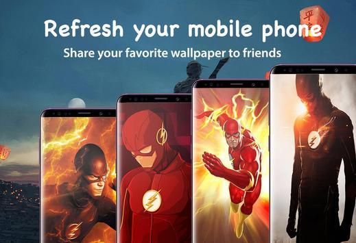 Superheroes Flash Wallpaper HD 4K screenshot 1