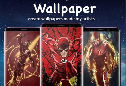 Superheroes Flash Wallpaper HD 4K screenshot 5