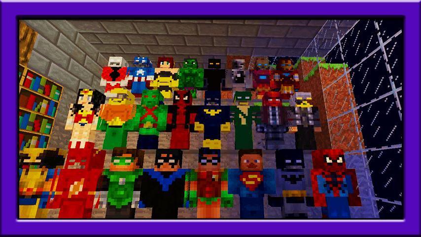 мод на майнкрафт 0.14.0 на супергероев #1