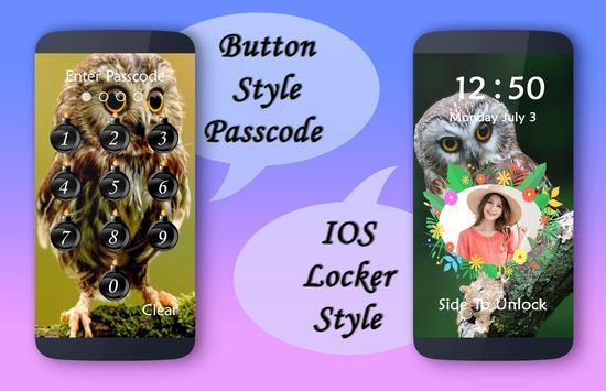 Owl Lock Screen poster