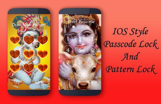 Lord Krishna Lock Screen apk screenshot