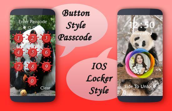 Panda Lock Screen poster