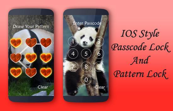 Panda Lock Screen apk screenshot