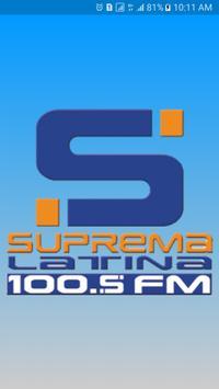SUPREMA 100.5 FM poster