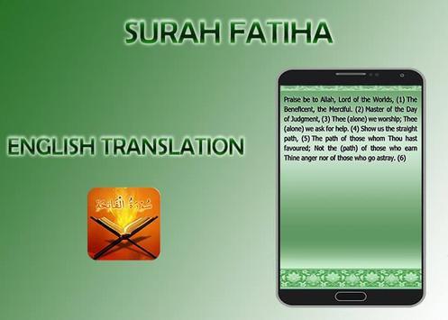 Surah Fatiha apk screenshot