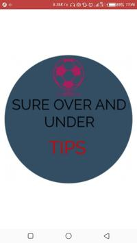 Sure Over/Under Tips poster