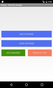 simple monthly budget apk screenshot